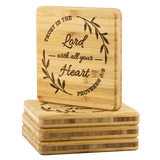 ' Trust In The Lord '  Bamboo Coasters (set of 4)