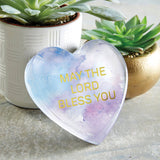 'May The Lord Bless You' Glass Tabletop Decor