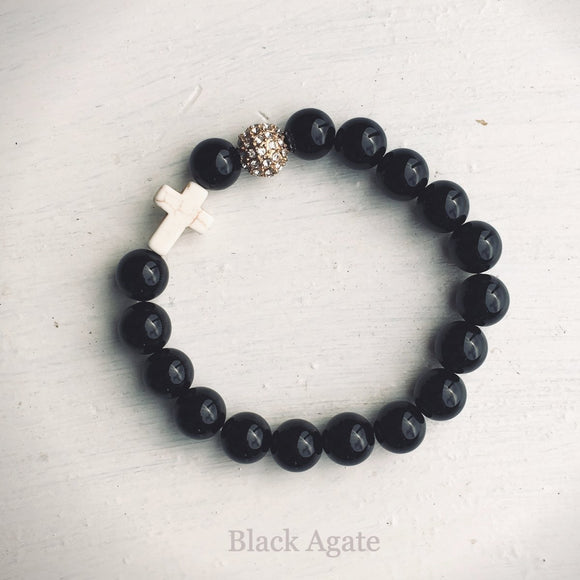 ' Thou Art with Me ' - Black Agate
