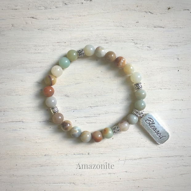 product top-view of Blessed Amazonite Bracelet variant