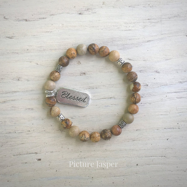 product top-view of Blessed Picture Jasper Bracelet variant