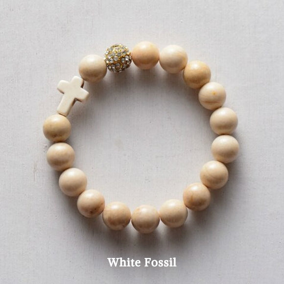 ' Thou Art with Me ' - White Fossil