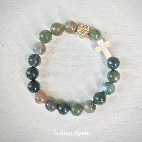 ' Thou Art with Me ' - Indian Agate