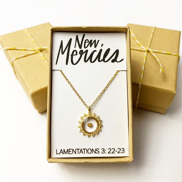 New Mercies Mustard Seed Faith Necklace - New!