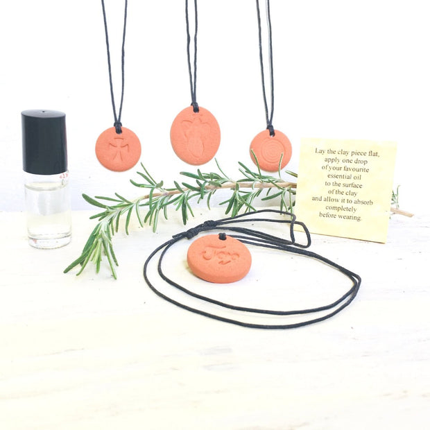 Angel Terra Cotta Diffuser Necklace