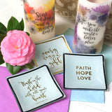 Floral-print LED Candle + Jewelry Tray Gift Bundle