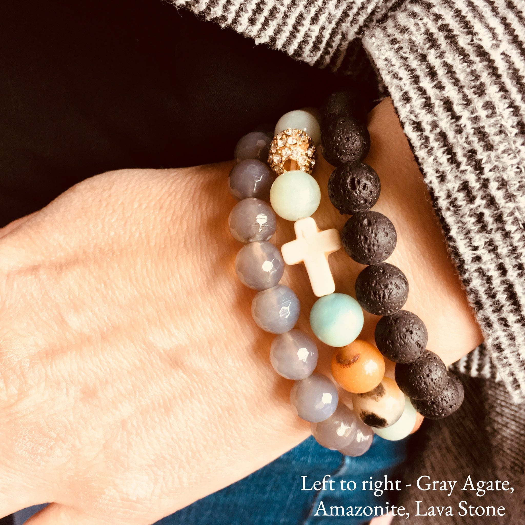 over stretch matte bead and overstock stone watches onyx free orders polished product wide amazonite brown beaded shipping blue white bracelet jewelry on orange