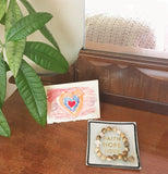 Jewelry - 3-piece Gift Set - 'Faith Hope Love' Tray