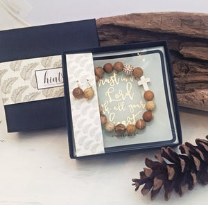 Jewelry - 3-piece Gift Set - 'Trust In The Lord' Tray