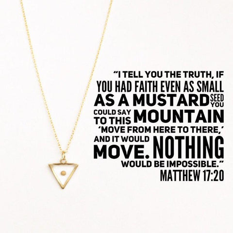 Jewelry - Mustard Seed Faith Necklace - Staff Favorite!