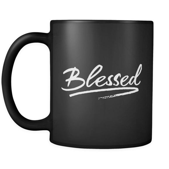 ' Blessed ' 11oz mug - black