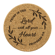 ' Trust In The Lord ' Cork Coasters (set of 4)