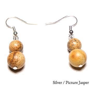Simple Natural Stone Drop Earrings