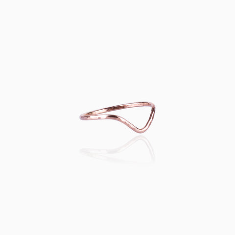 Textured Drop Midi Ring - Rose Gold
