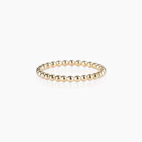 Beaded Ring - Gold, Designer Rings, gold stacking rings, gold rings, handmade rings,  rings Australia