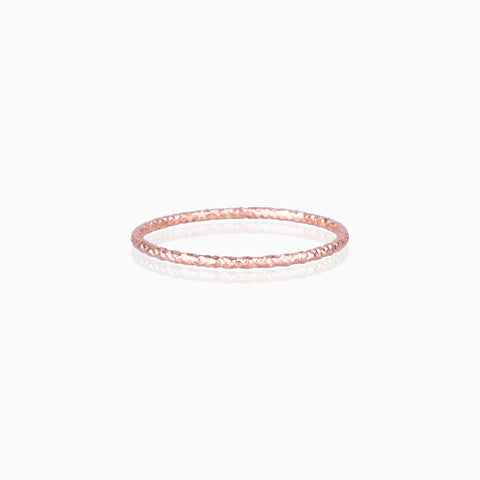 Textured Ring - Rose Gold, Designer Rings, rose gold stacking rings, rose gold rings, handmade rings,  rings Australia
