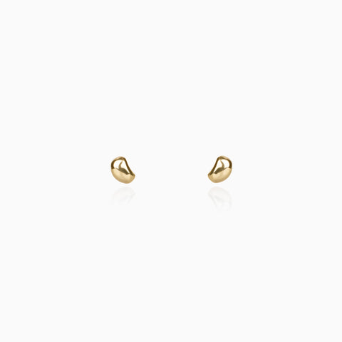 Golden Raindrops Studs