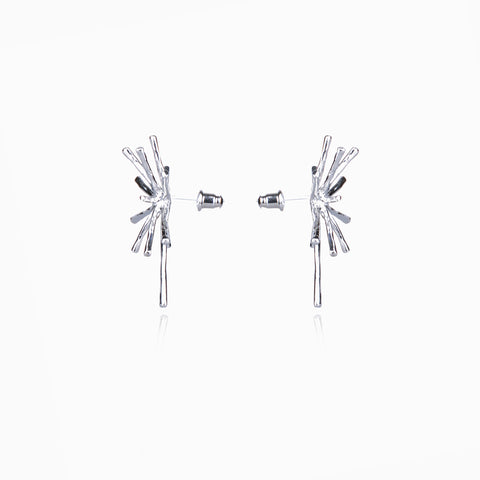 Starburst Earrings – Silver