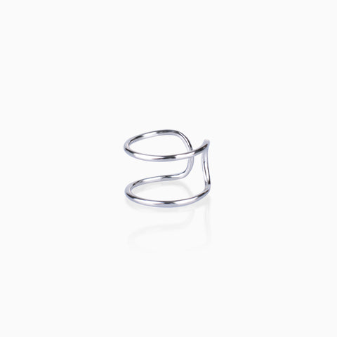 Dual Ring Stacker – Silver