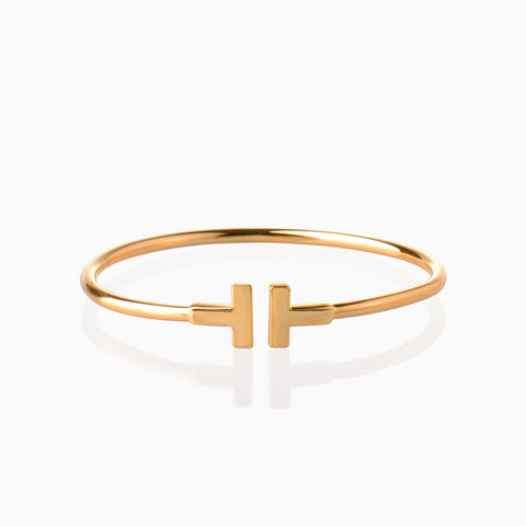 I Open Bangle - Gold