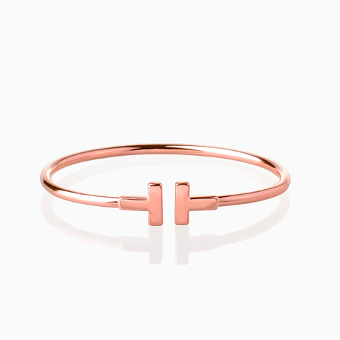 I Open Bangle - Rose Gold