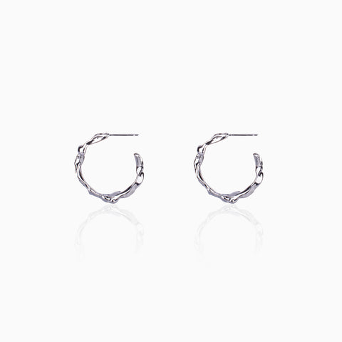 Rippling Swirl Hoop Earrings - Small