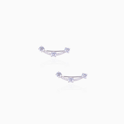 Starry Night Ear Cuff - Silver