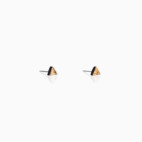 Wabi-Sabi Triangle Studs - Black