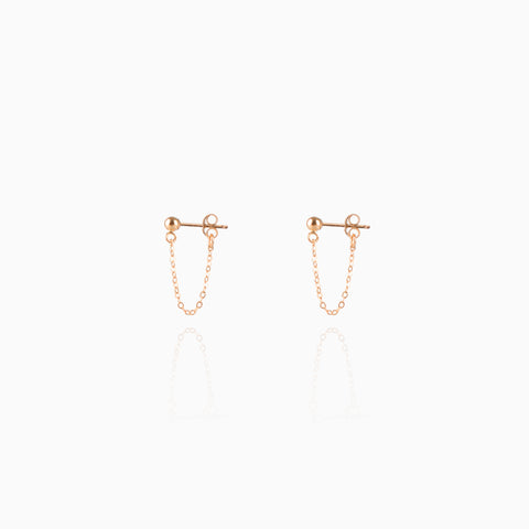 handcrafted 14k gold filled chain wrap earrings