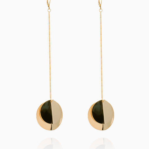 Double Plate Dangling Earrings