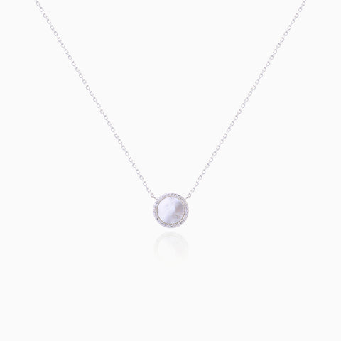 Mother-of-Pearl Circle Necklace