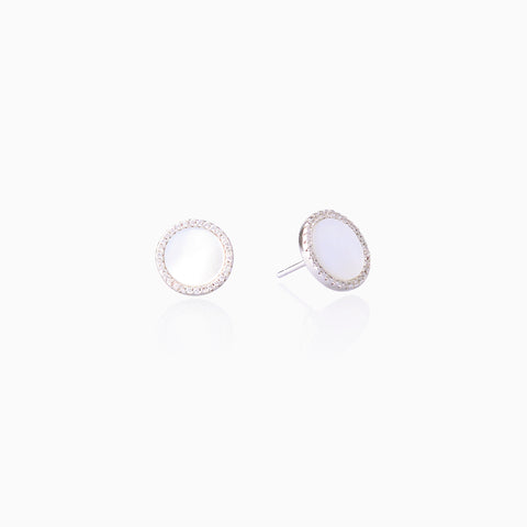 Mother-of-Pearl Circle Stud