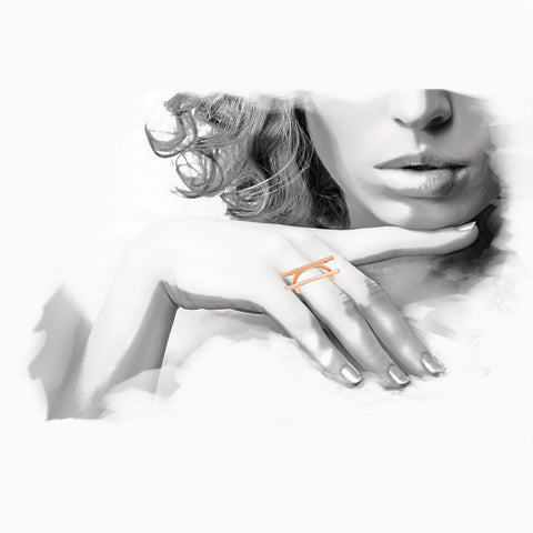 Iron&Bone Fashion Illustration, Designer Silver Rings, Beautiful Silver Rings