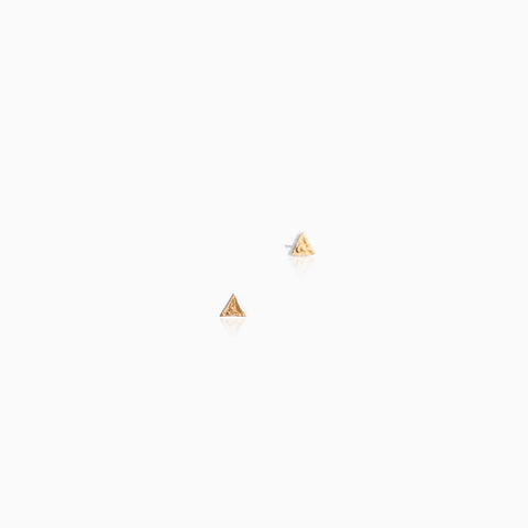 Wabi-Sabi Triangle Studs - White