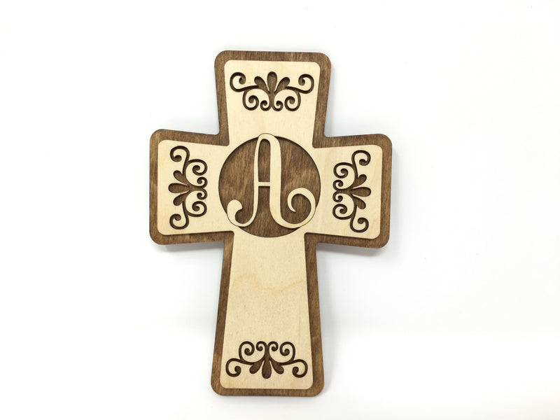 Lettered Crosses (Brown Backing)