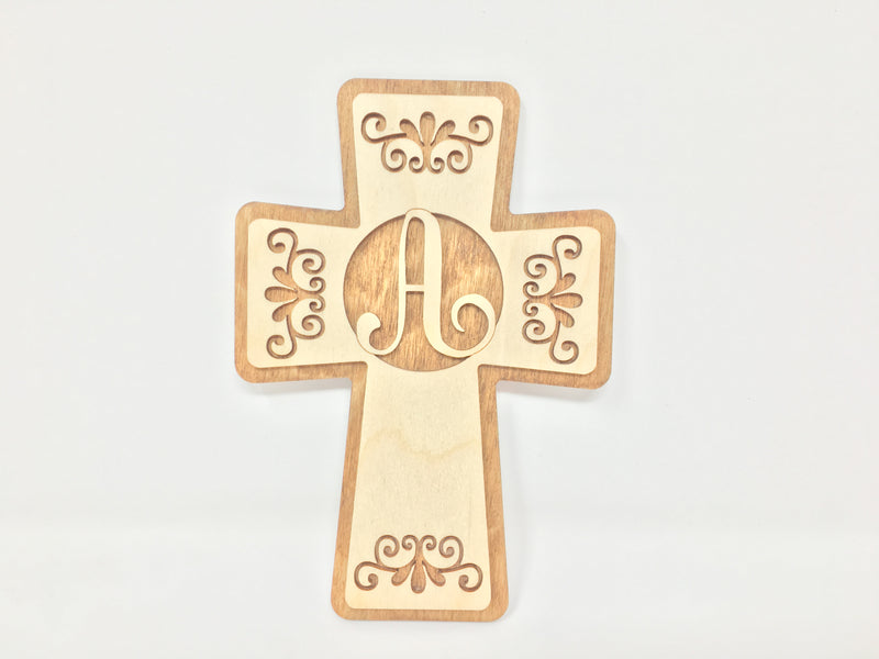 Lettered Crosses (Light Brown)