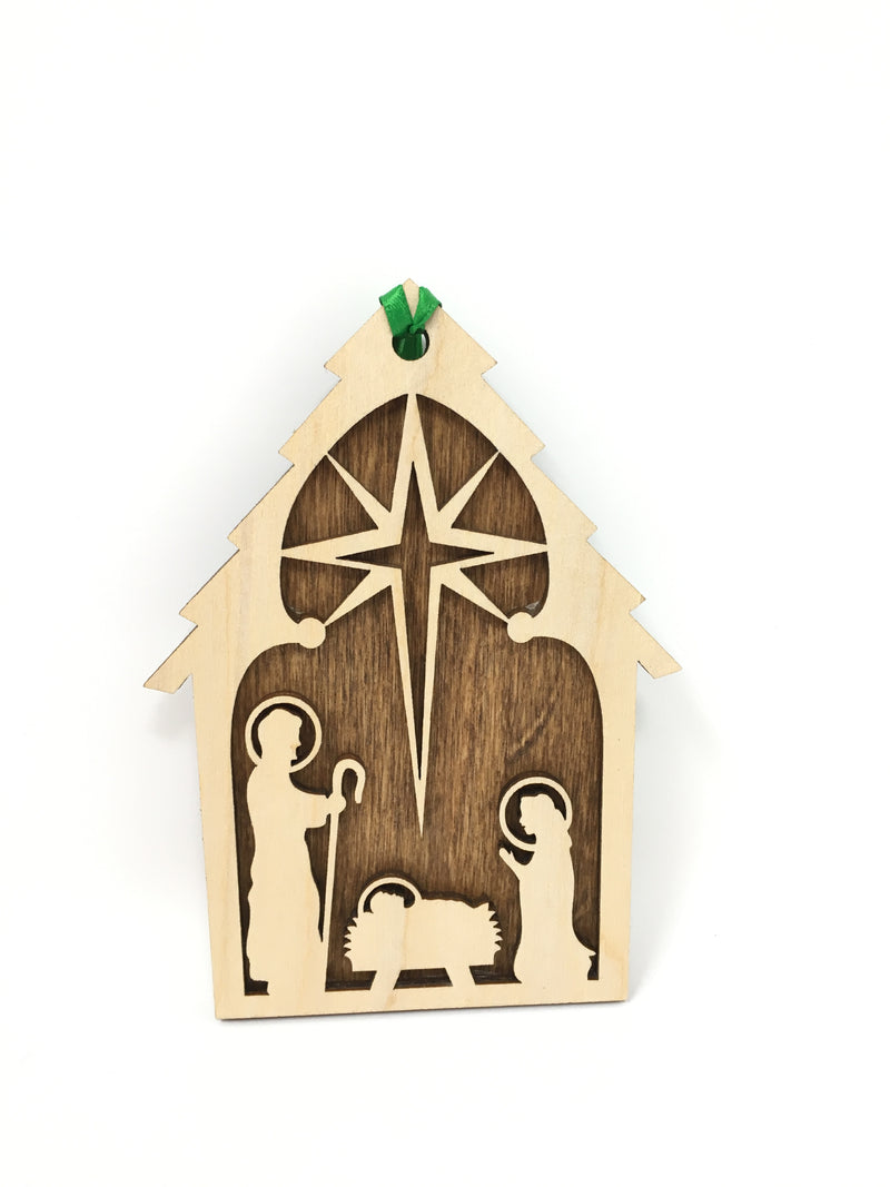 Nativity with wood backing