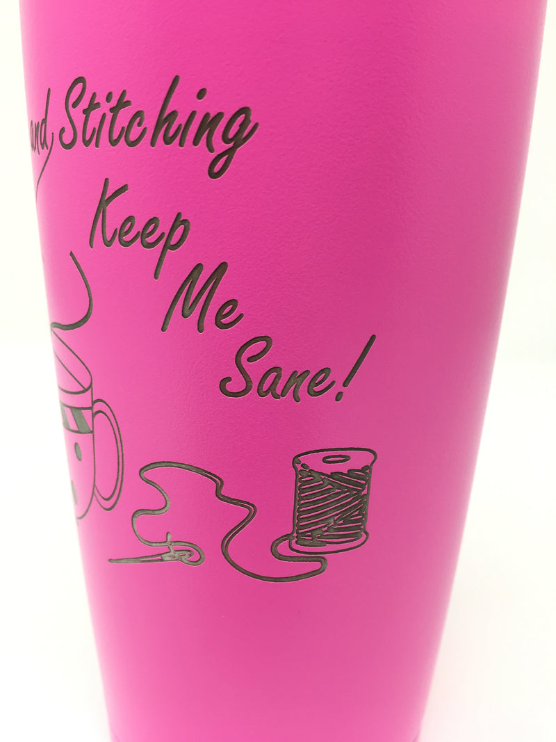 Coffee and Stitching Tumbler