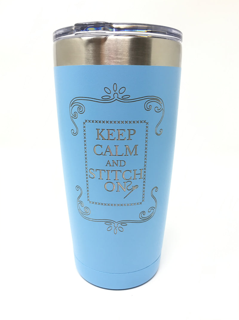 Keep Calm & Stitch Tumbler