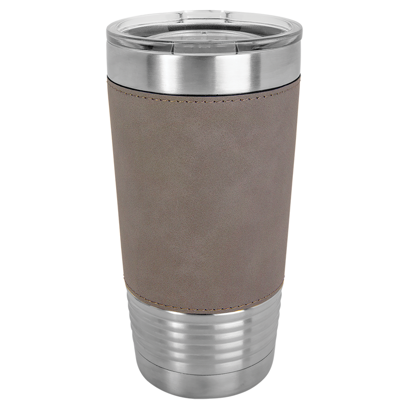 20 oz. Teal Laserable Leatherette Polar Camel Tumbler with Clear Lid
