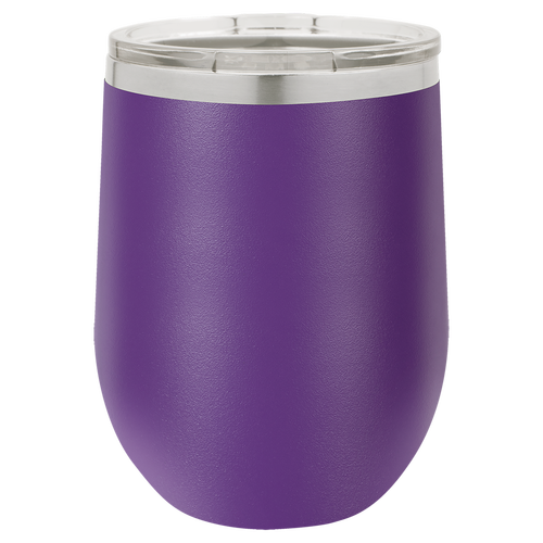 12 oz. Stemless Wine Tumbler w/Lid