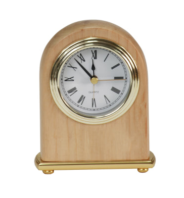 "4"" x 5"" Red Alder Arch Desk Clock"