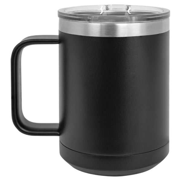 15 oz. Green Vacuum Insulated Mug with Slider Lid
