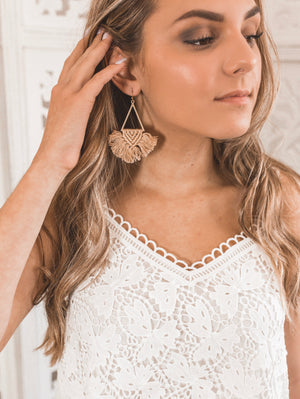 Sandy Macrame Earrings