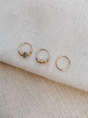 Tiny CZ Spike Huggie Hoops