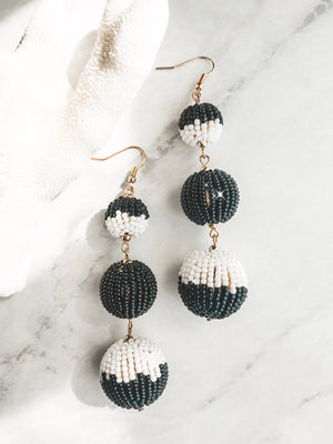 Take Me To The Disco Earrings (Black+White)