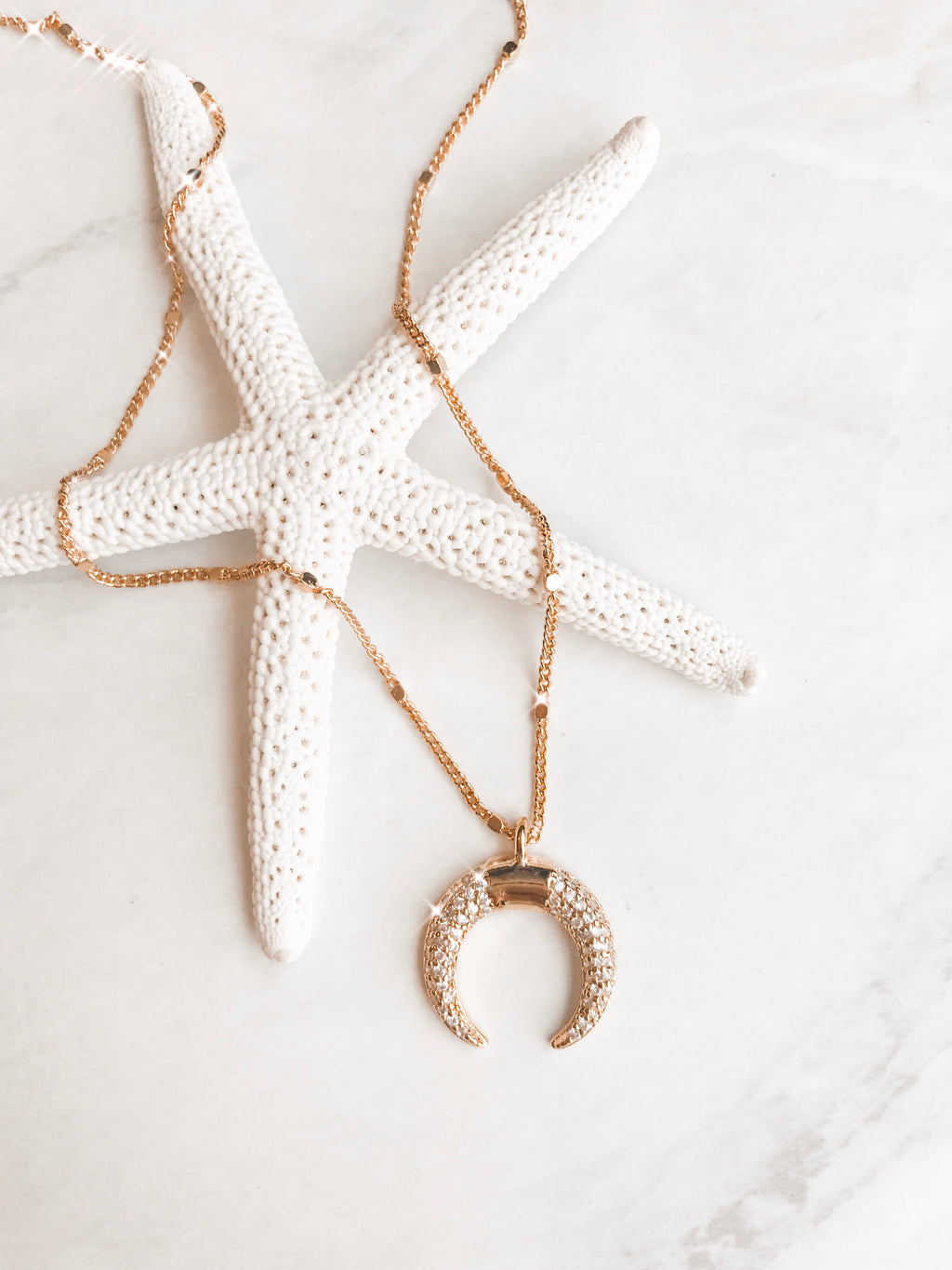 CZ Crescent Necklace