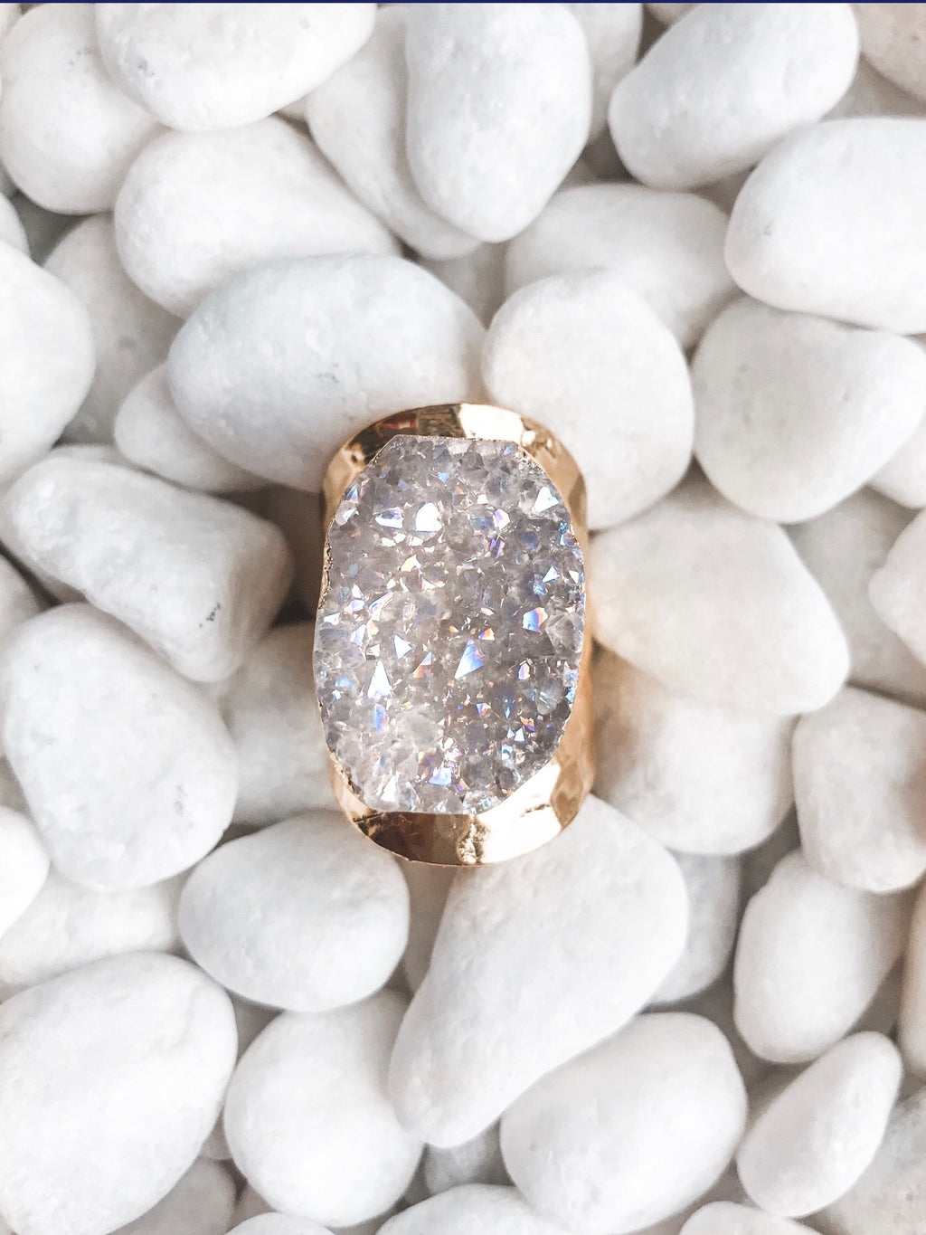Unicorn Druzy Ring