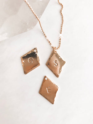 Extra Diamond Initial Charms