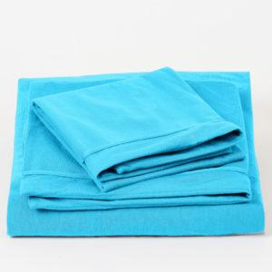 NocheNoche Supakuru Dermofresh® Protector King Fitted Bedsheet Set (43CM) - TURQUOISE (183X191X43CM)